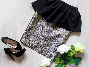 Шьем нарядную юбку с баской. Ярмарка Мастеров - ручная работа, handmade.