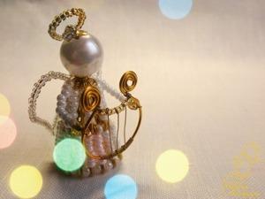 Делаем миниатюрную арфу из проволоки и бисера. Ярмарка Мастеров - ручная работа, handmade.