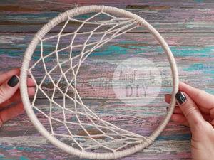Делаем ловца снов в виде луны. Ярмарка Мастеров - ручная работа, handmade.
