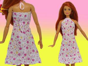 Шьем летнее платье для куклы из хлопка. Ярмарка Мастеров - ручная работа, handmade.