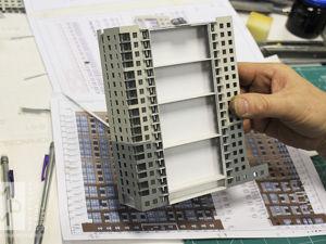 Процесс работы над макетом ЖК в масштабе 1:350. Ярмарка Мастеров - ручная работа, handmade.