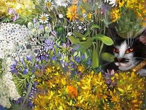 Кавказский букет с котом Гиви и ключами от Вселенной и мании величия. Ярмарка Мастеров - ручная работа, handmade.