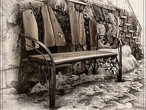 Скамья в осеннем парке_Аксессуар для куклы. Ярмарка Мастеров - ручная работа, handmade.
