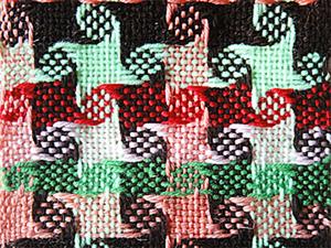 """Приемы ткачества. Узор: стилизованные """"Гусиные лапки"""". Ярмарка Мастеров - ручная работа, handmade."""
