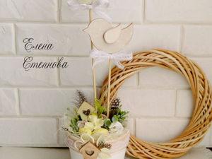 Создаем декоративную пасхальную композицию своими руками. Ярмарка Мастеров - ручная работа, handmade.