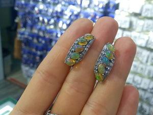Комплекты серьги и кольцо танзанит опал александрит цитрин. Ярмарка Мастеров - ручная работа, handmade.