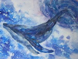 Акварель, кит. Ярмарка Мастеров - ручная работа, handmade.