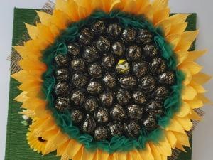 Создаем подсолнух из конфет. Ярмарка Мастеров - ручная работа, handmade.