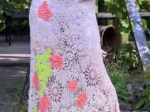 Платье вязаное крючком, ирландское кружево.Ирландское вязание. Ярмарка Мастеров - ручная работа, handmade.