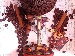 Кофейный топиарий - пошаговая инструкция. Ярмарка Мастеров - ручная работа, handmade.