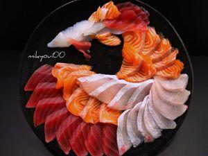 Японский кулинар покоряет интернет шедевральными нарезками из рыбы. Ярмарка Мастеров - ручная работа, handmade.