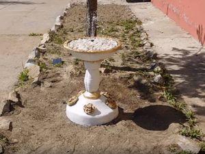 Фонтан из цементного раствора во двор своими руками. Ярмарка Мастеров - ручная работа, handmade.