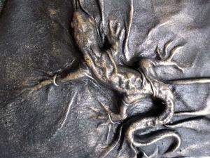 Лепим фигурку ящерицы и обтягиваем ее кожей. Ярмарка Мастеров - ручная работа, handmade.
