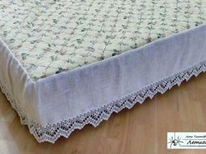Дополняем кровать наматрасником с подзором. Ярмарка Мастеров - ручная работа, handmade.