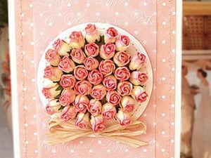 Имитация букета из роз в открытках ручной работы. Ярмарка Мастеров - ручная работа, handmade.