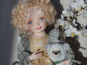 Ангел Иза, текстильная шарнирная кукла. Ярмарка Мастеров - ручная работа, handmade.