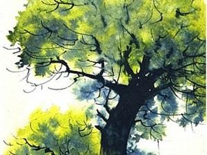 Как нарисовать дерево акварелью. Ярмарка Мастеров - ручная работа, handmade.