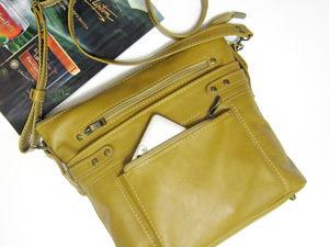 Шьём женскую сумку  «Золотой шафран»  из натуральной кожи. Ярмарка Мастеров - ручная работа, handmade.