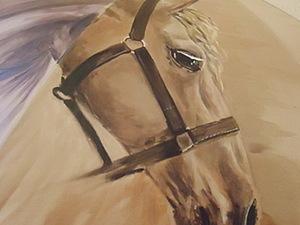 Как нарисовать голову лошади на зонте. Ярмарка Мастеров - ручная работа, handmade.