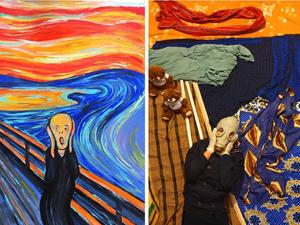 Картошка вместо персиков и кот Ван Гог: участницы флэшмоба ИЗОизоляция воссоздают известные картины из того, что есть дома. Ярмарка Мастеров - ручная работа, handmade.