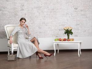 Платье недели: скидка 20% на платье из шелка и шерсти!. Ярмарка Мастеров - ручная работа, handmade.
