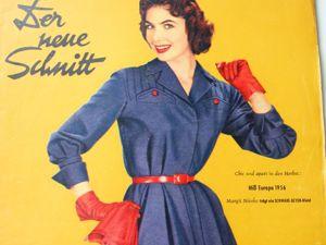 Der Neuer Schnitt — старый немецкий журнал мод — 8/1956. Ярмарка Мастеров - ручная работа, handmade.