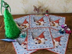 Комплекты салфеток к Новому году. Ярмарка Мастеров - ручная работа, handmade.