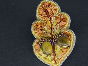 "How to Make an ""Oak Leaf with Acorns"" Brooch. Livemaster - handmade"