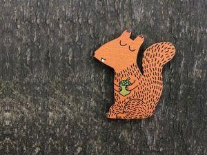 Луч света в темном лесу: разнообразие «беличьих» идей и очарование образа. Ярмарка Мастеров - ручная работа, handmade.
