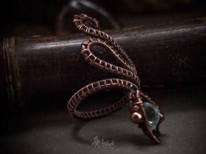 Создаем кольцо-змею из проволоки в технике wire wrap. Ярмарка Мастеров - ручная работа, handmade.