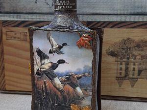Оформляем бутылку в стиле книги «Утиная охота». Ярмарка Мастеров - ручная работа, handmade.