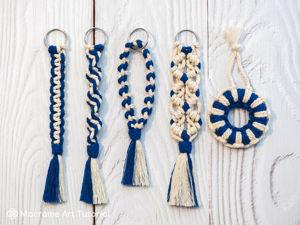 Базовые узлы макраме — урок для начинающих. Ярмарка Мастеров - ручная работа, handmade.