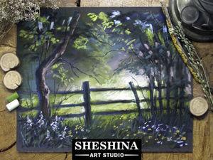 Видеоурок: рисуем летний пейзаж сухой пастелью. Ярмарка Мастеров - ручная работа, handmade.