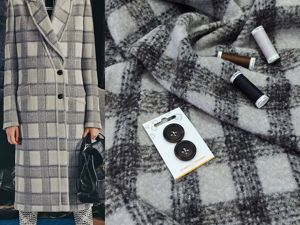 Костюмно-пальтовая ткань с мохером. Ярмарка Мастеров - ручная работа, handmade.