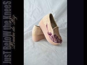 Войлочные демисезонные туфли. Ярмарка Мастеров - ручная работа, handmade.