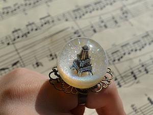 Мастер-класс: кольцо-сфера «Париж» из эпоксидной смолы. Ярмарка Мастеров - ручная работа, handmade.