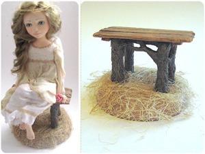 Мастерим деревенскую лавочку для куколки. Ярмарка Мастеров - ручная работа, handmade.