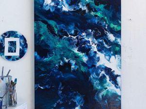 FLUID ART, Абстрактная живопись акрилом. Ярмарка Мастеров - ручная работа, handmade.