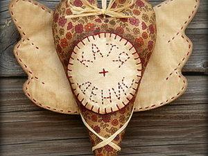 Именное сердечко с крылышками в винтажном стиле. Ярмарка Мастеров - ручная работа, handmade.