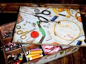 Короб для рукодельницы. Ярмарка Мастеров - ручная работа, handmade.
