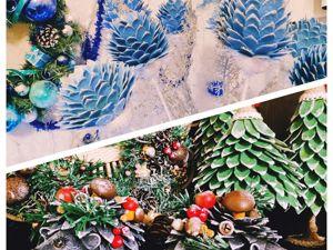Создаем новогодний декор  «Ежики и цветы из яичных лотков»  своими руками. Ярмарка Мастеров - ручная работа, handmade.