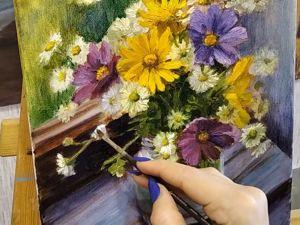 Рисуем букет цветов. Картина маслом. Часть вторая. Ярмарка Мастеров - ручная работа, handmade.