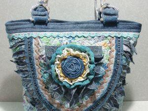 Текстильная сумка в стиле бохо. Ярмарка Мастеров - ручная работа, handmade.