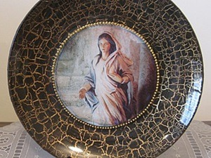 Декоративная тарелочка «Мария из Назарета». Ярмарка Мастеров - ручная работа, handmade.