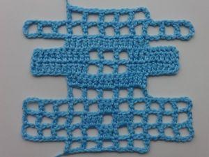 Как достроить и убавить клеточки в технике филейного вязания: видеоурок. Ярмарка Мастеров - ручная работа, handmade.