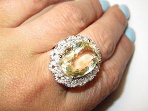 Кольцо с цитрином серебряное. Ярмарка Мастеров - ручная работа, handmade.