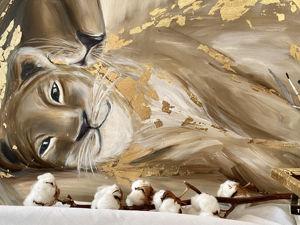 Картина маслом «Львиный рай». Ярмарка Мастеров - ручная работа, handmade.