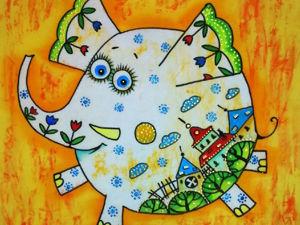 Солнечный слоник. Ярмарка Мастеров - ручная работа, handmade.