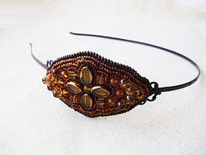 Вышивка бисером: делаем ободок  «Осенний». Ярмарка Мастеров - ручная работа, handmade.