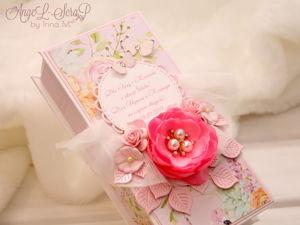 Розовая коробочка для денег на свадьбу. Ярмарка Мастеров - ручная работа, handmade.